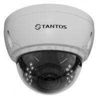 4 мегапиксельная купольная уличная антивандальная IP камера TSi-Ve4VPA (2.8-12)