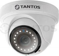 Купольная 1Mp видеокамера 4в1 для внутренней установки TSc-EBecof1 (2.8)