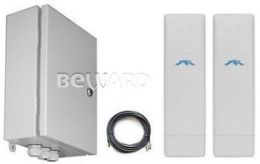 Комплект передачи видео с подключением до 7 IP-устройств. До 4 км. BR-025-8