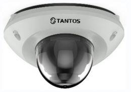 Купольная антивандальная IP видеокамера со встроенной ИК-подсветкой TSi-Dn425FP (2.8)