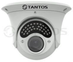Антивандальная купольная универсальная видеокамера TSc-E1080pUVCv (2.8-12)