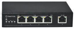 5 портовый гигабитный POE Ethernet коммутатор TSn-4P5G