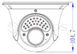 2 мегапиксельная уличная антивандальная IP камера TSi-Ee25VP (2.8-12)