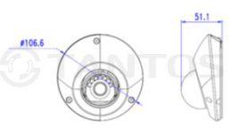 4 мегапиксельная купольная уличная антивандальная IP камера TSi-De43FPM (2.8)
