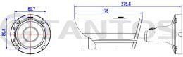Двухмегапиксельная уличная камера TSi-Pn235VPZD (2.8-12)