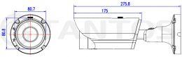 4 мегапиксельная уличная камера TSi-Pn425VPD (2.8-12)