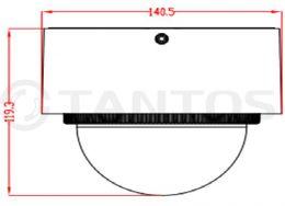 2 мегапиксельная купольная уличная антивандальная IP камера TSi-Vn225VPZD (2.8-12)
